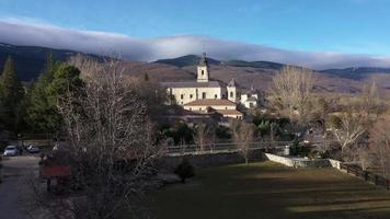 Aerial View of The Monastery of Santa Maria video