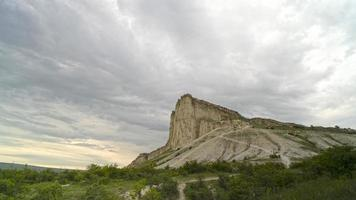 Natural landscape with a view of the White Rock. photo
