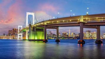 Panorama view of Tokyo skyline in the evening photo