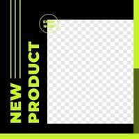 cartel de descuento urbano plantilla de publicación en redes sociales vector