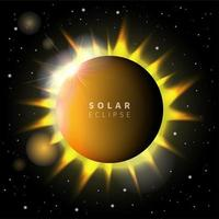 Solar Eclipse Background Template vector