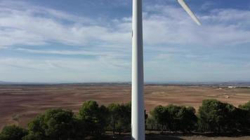 vue panoramique de l'éolienne video
