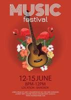 music festival poster for live music vector