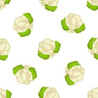 Illustration on theme of bright pattern cabbage vector