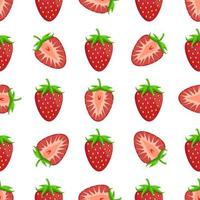 Theme big colored seamless strawberry vector