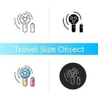 Mini travel fan icon vector