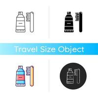 Travel toothbrush icon vector