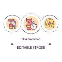 Skin protection concept icon vector