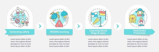 Summer seaside safety vector infographic template