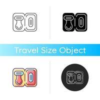 Travel size razor icon vector