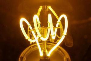 bombilla de luz macro foto
