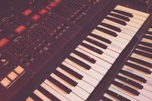 Old synthesizer instrument photo
