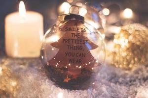 decoración de navidad y año nuevo foto