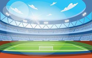 Football Stadium for Soccer Championship vector