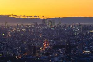 Scenery of Nagoya city, the capital of Aichi Prefecture in Japan at dusk photo