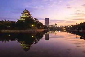 Hiroshima Castle, aka Carp Castle, in Hiroshima, Japan photo