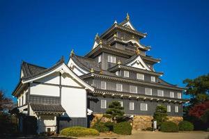 Main keep of Okayama Castle, aka Ujo or Crow castle in Okayama, Japan photo