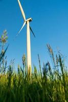 vista del molino de viento durante el día de verano foto
