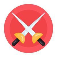 Fencing Swords and Rapiers vector