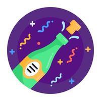 Champagne Blast Bottle vector