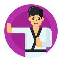 karate y judo vector