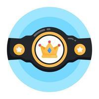 Championship Winning  Belt vector