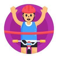 Cyclist Race Winner vector