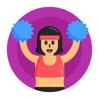 Woman  Cheerleader Girl vector