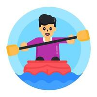 Rafting and Boat Rafting vector