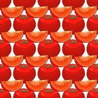pattern red tomato, vegetable ketchup for seal vector