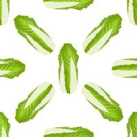 Simple colorful vegetable pattern from salad chinese cabbage vector