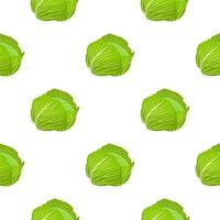Illustration on theme of bright pattern rounded cabbage vector