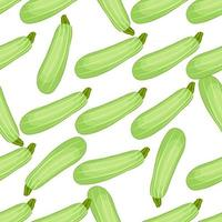 Illustration on theme of bright pattern zucchini vector