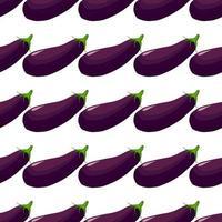pattern eggplant, vegetable aubergine for seal vector