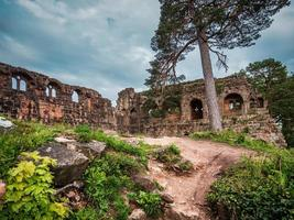 Medieval Castle Landsberg in Vosges, Alsace. Ancient ruins in the mountains. photo