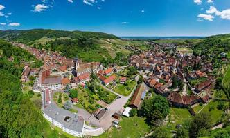 Panoramic view of the stunning village Andlau in Alsace. photo