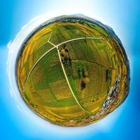 Autumn planet. Sunlit valleys, mountains and a variety of autumn colors. Alsace, France. photo