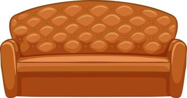 Sofa furniture for interior design on white background vector