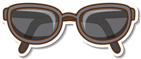 Sticker design with sunglasses eyewear isolated vector