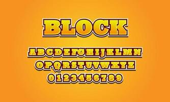 Editable text effect block title style vector