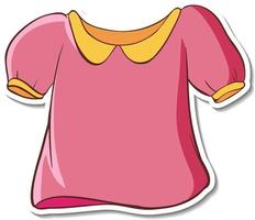 Sticker design with pink shirt isolated vector