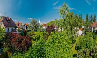 Panoramic view of the residential area of Strasbourg photo