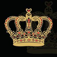 Vector illustration of king's crown