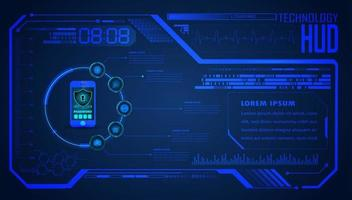 hud cyber circuit future technology concept background vector