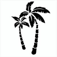 Vector illustration of palm tree silhouette