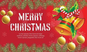 merry christmas banner background vector
