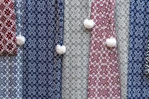 Traditional Latvian belts are belts are made with yarn, precious artefacts, variety of colors, different in Latvian regions. They are present in festivities and family occasions. Latvia photo