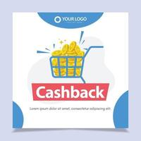 Banners cashback vector design template.