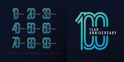 Set anniversary design logo concept. vector