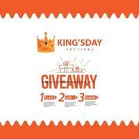 obsequio plantilla de banner de kingsday vector